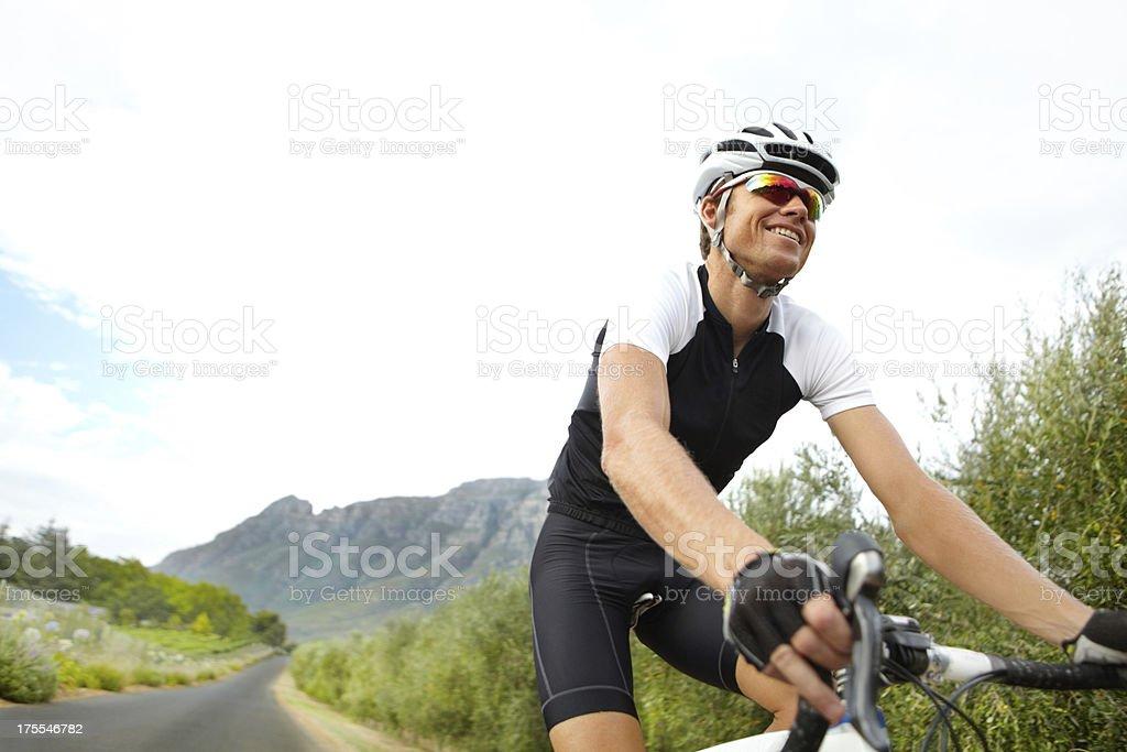Biking through nature royalty-free stock photo