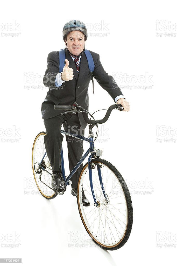 Biking to Work - Thumbs Up royalty-free stock photo