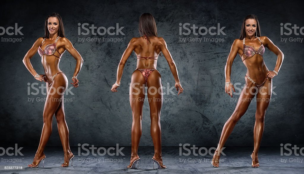 Bikini Fitness Competitor stock photo