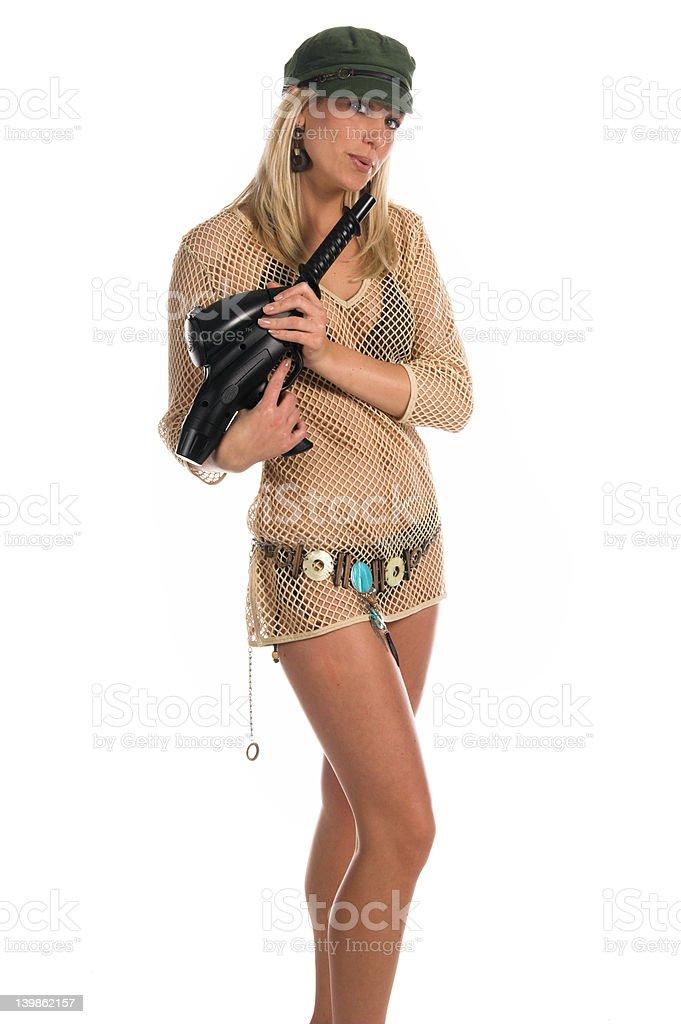 Bikini Paintball stock photo