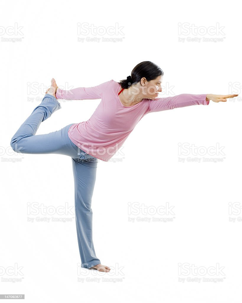 bikram yoga stock photo