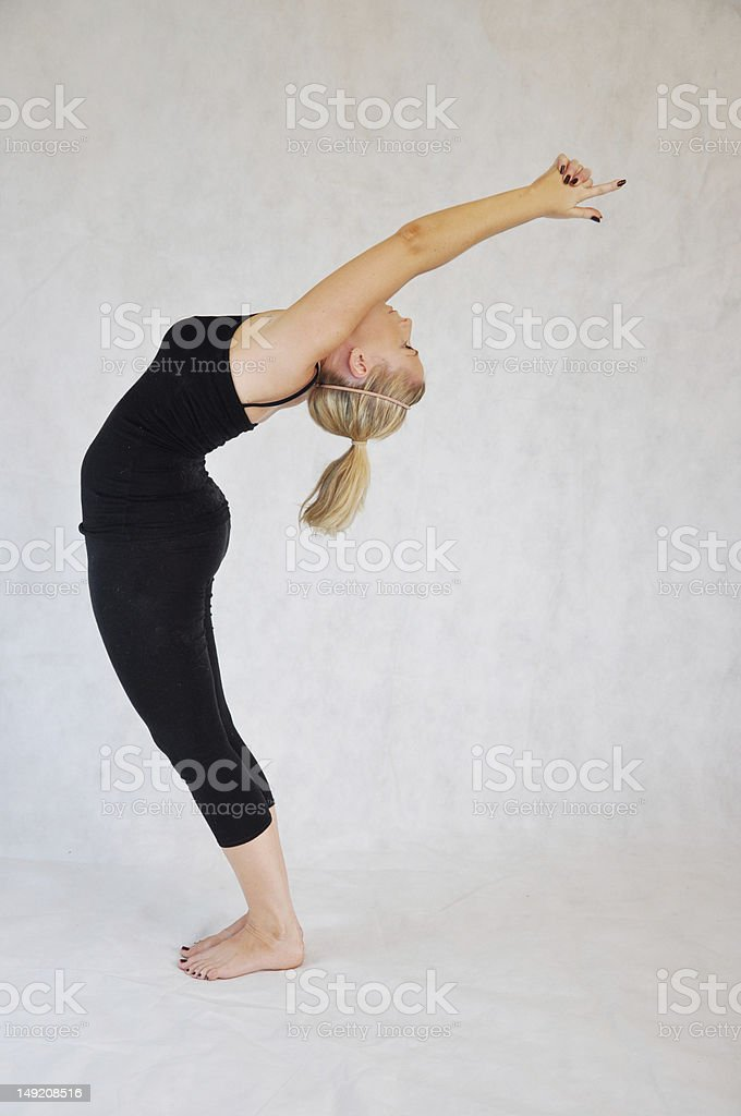 Bikram Yoga Pose stock photo