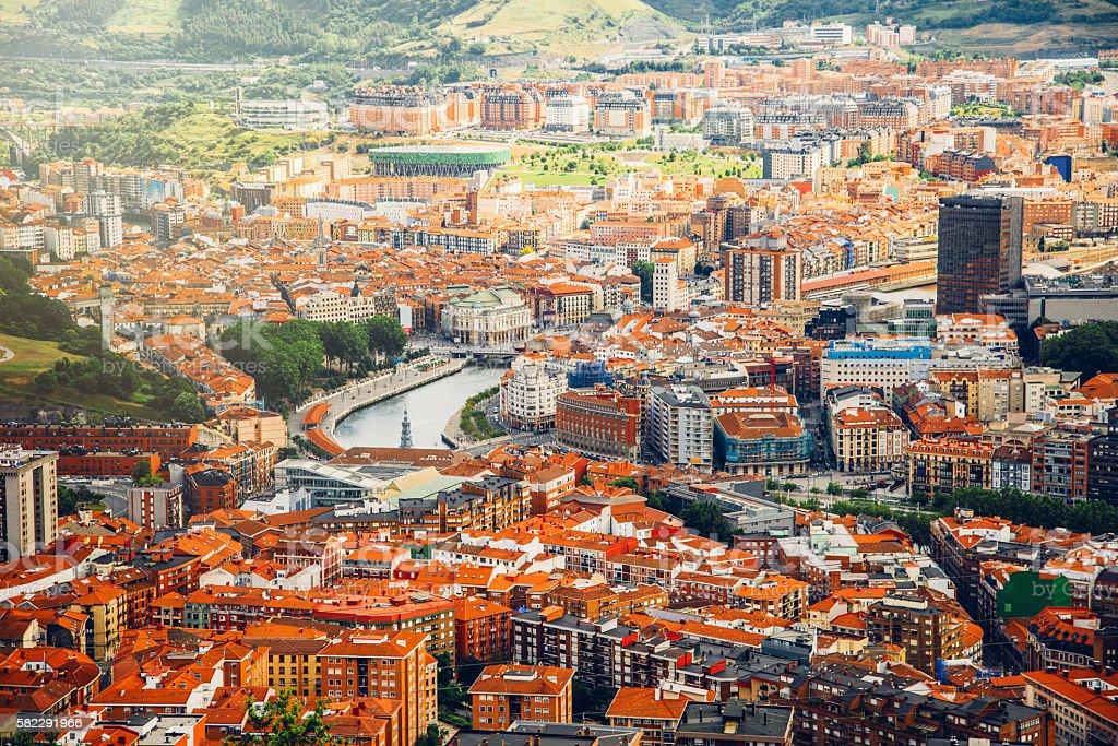Bilbao - Aerial view stock photo