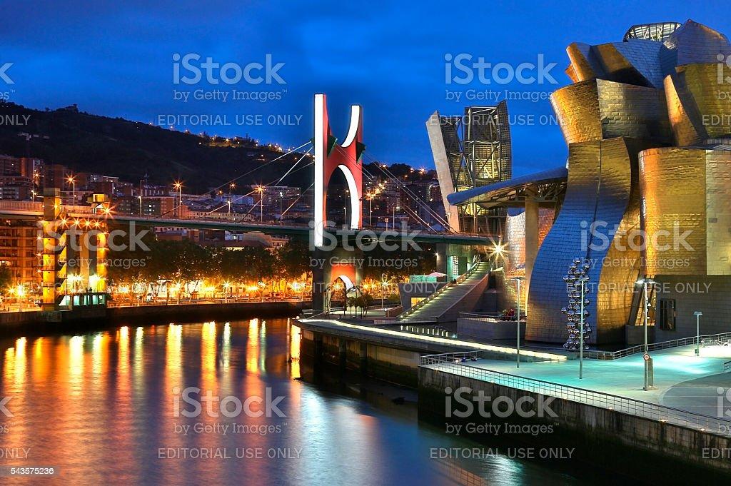 Bilbao - Guggenheim Museum - Spain stock photo