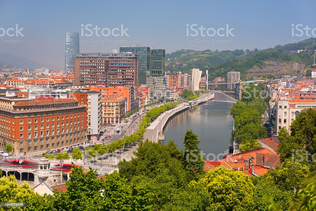 Bilbao in a summer day stock photo