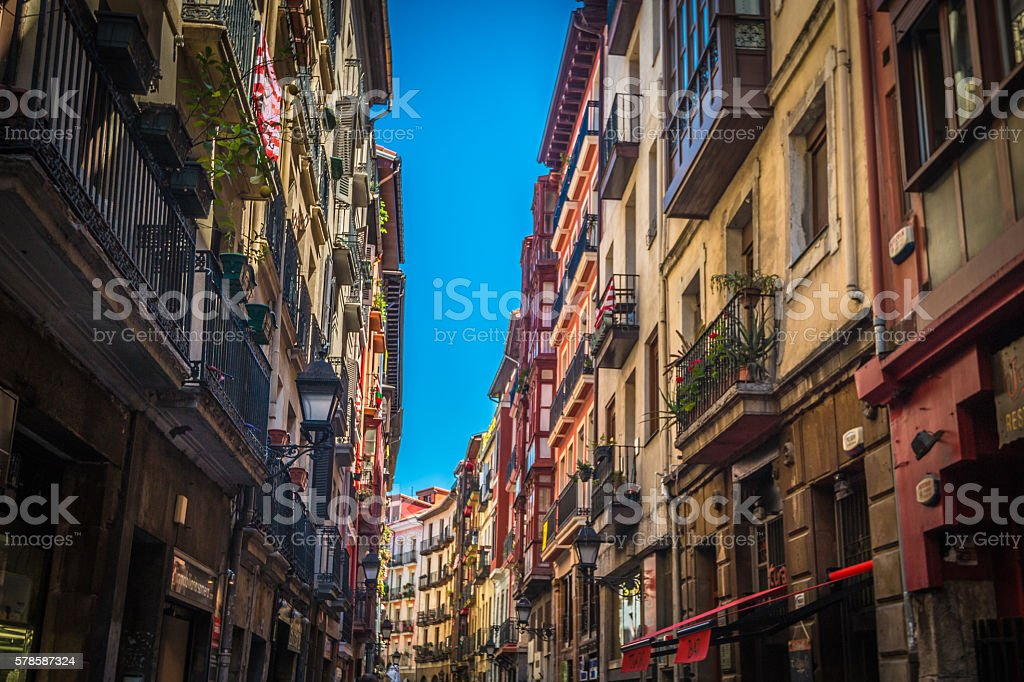 Bilbao in Basque country Spain stock photo