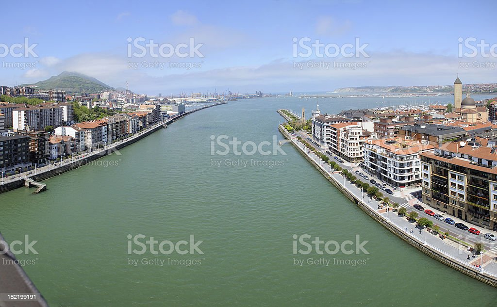 Bilbao Port stock photo