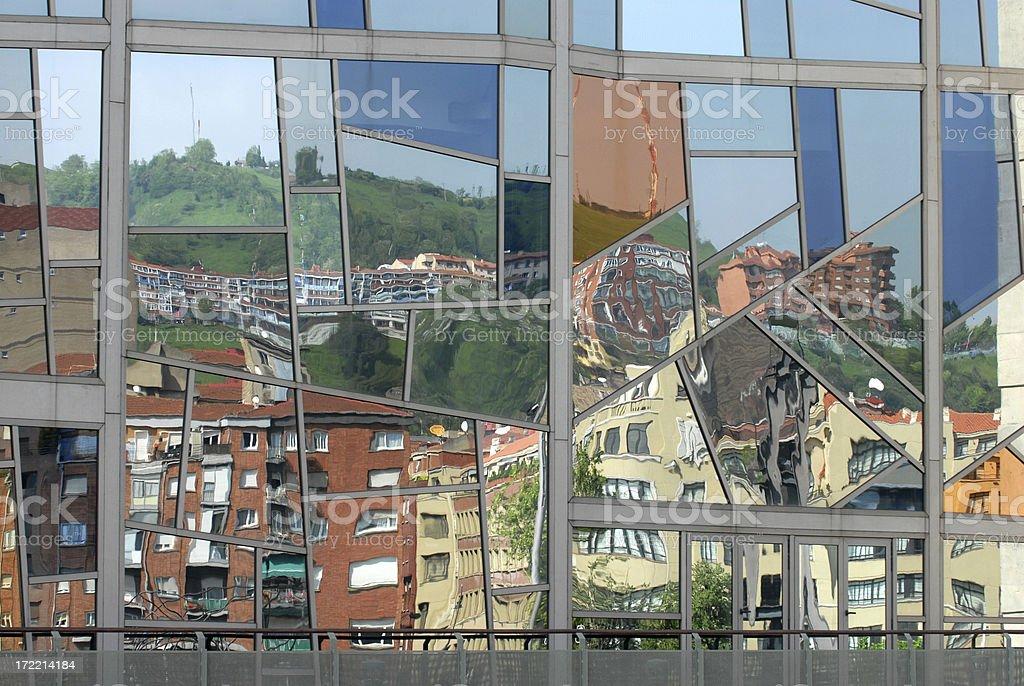Bilbao Reflections stock photo