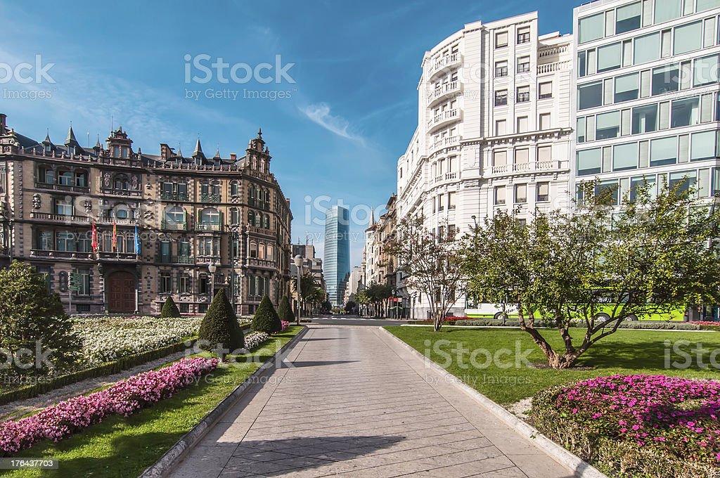 Bilbao square stock photo