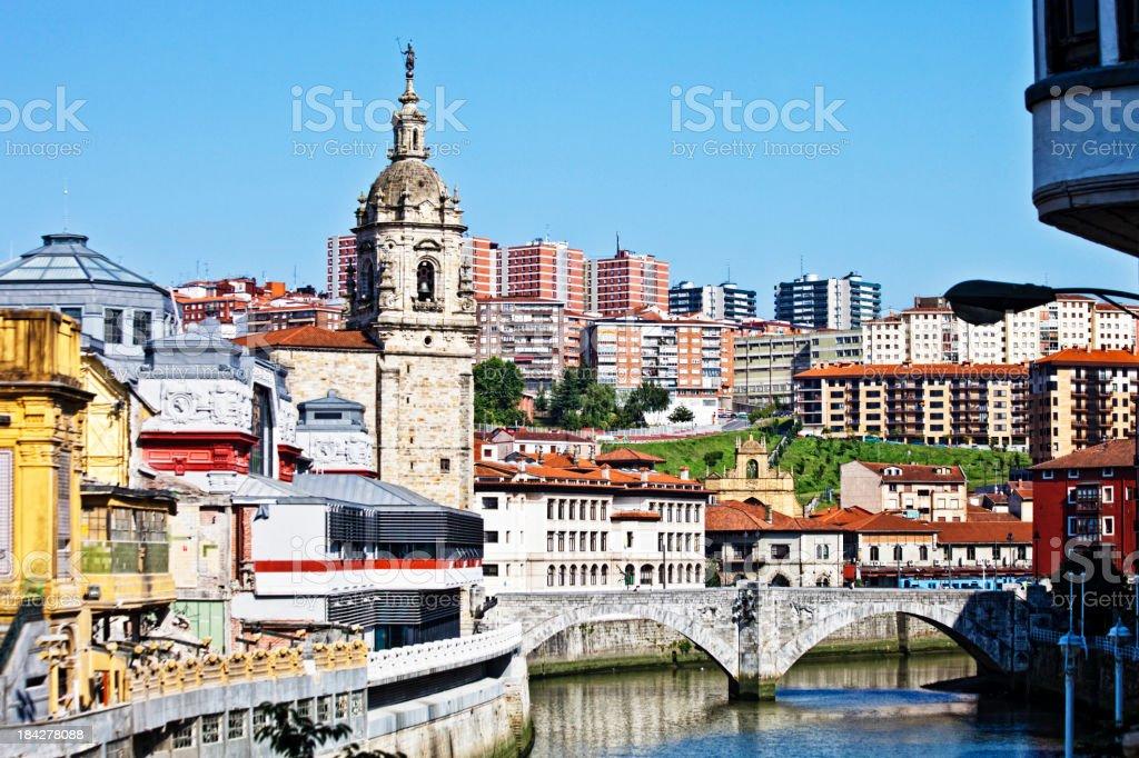 Bilbao view. stock photo