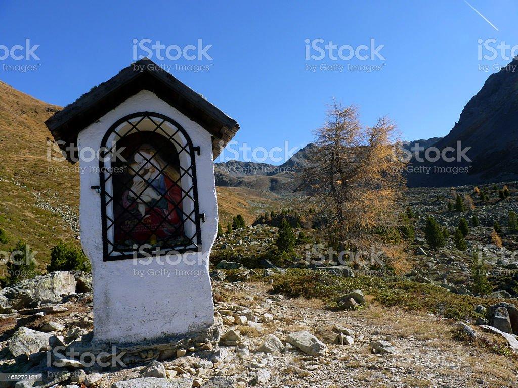 Bildstock im Hochgebirge stock photo
