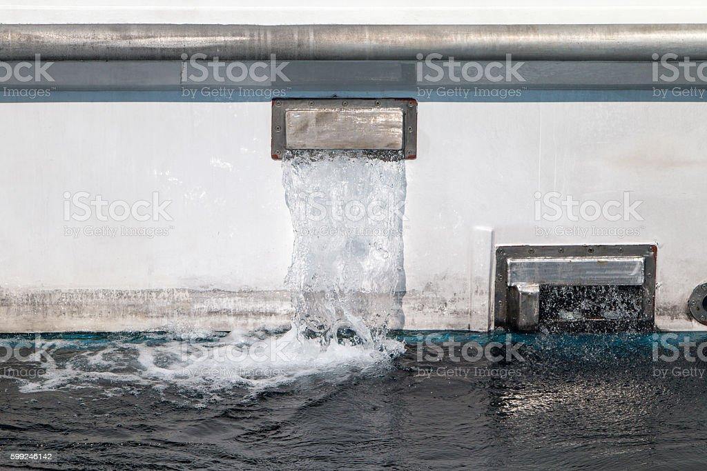 Bilge Pump in Milazzo, Sicily stock photo