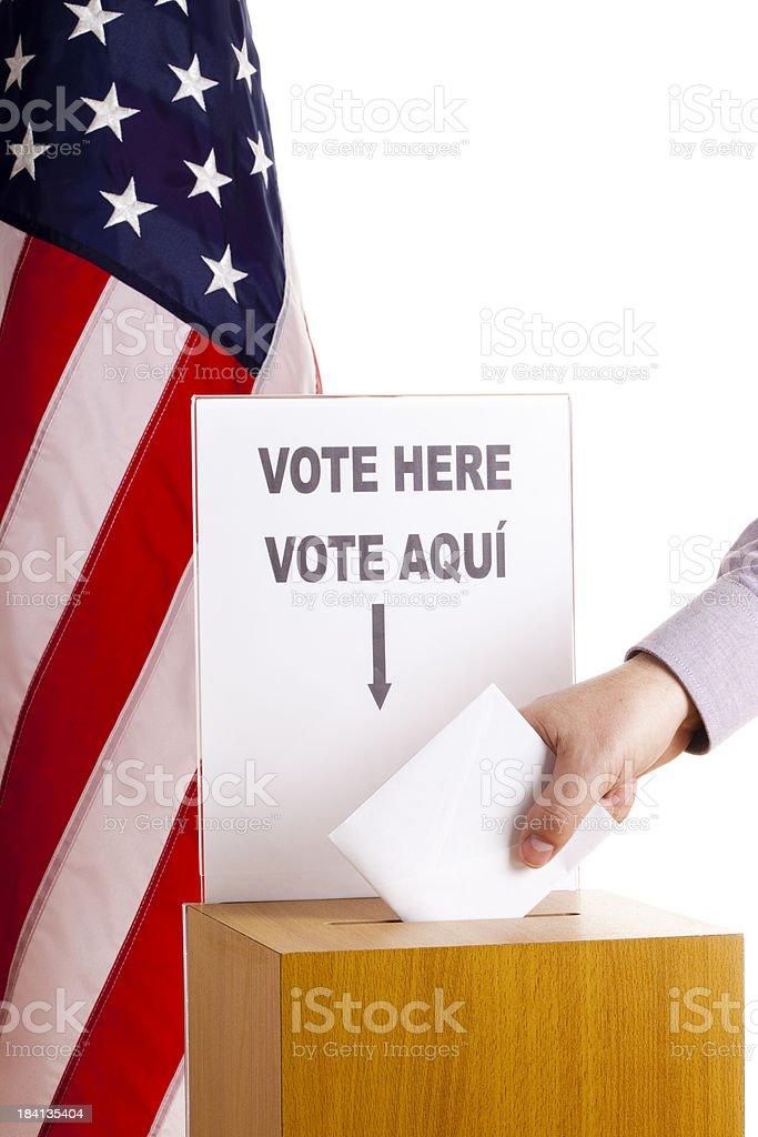 Bilingual voting stock photo