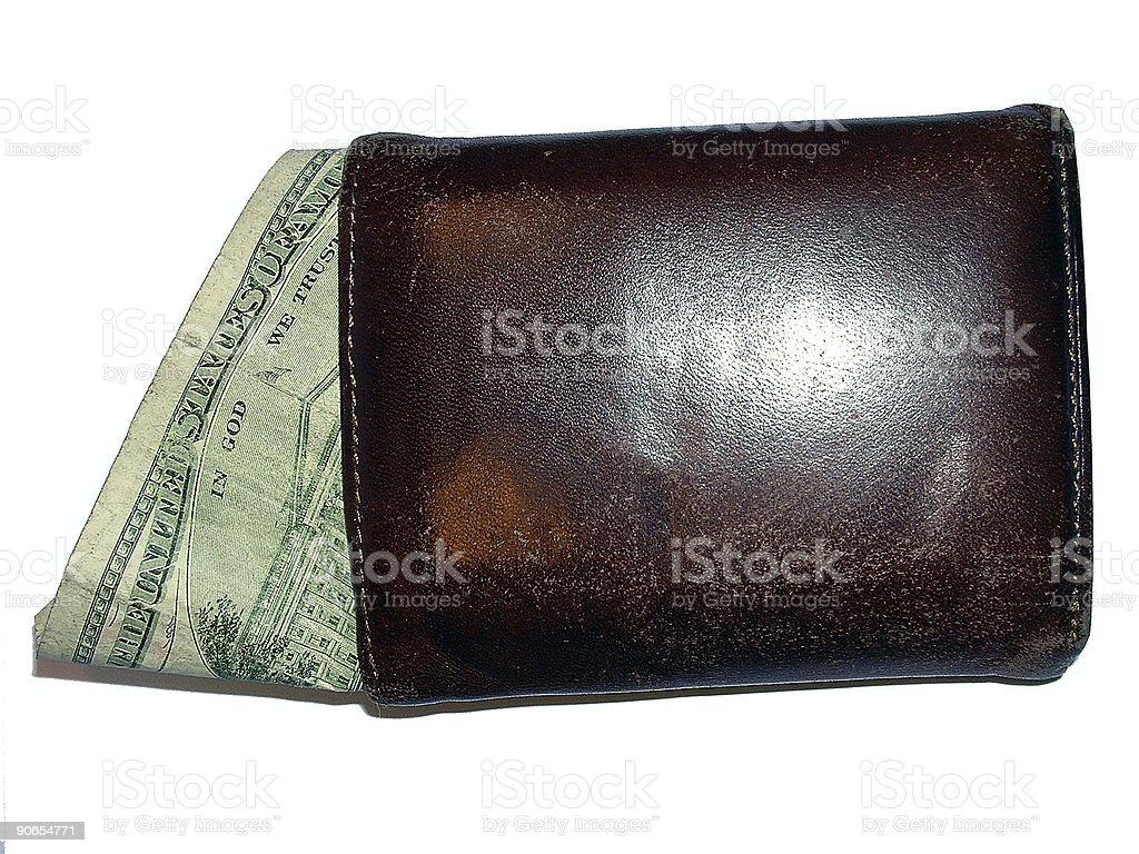 Bill in a Wallet stock photo