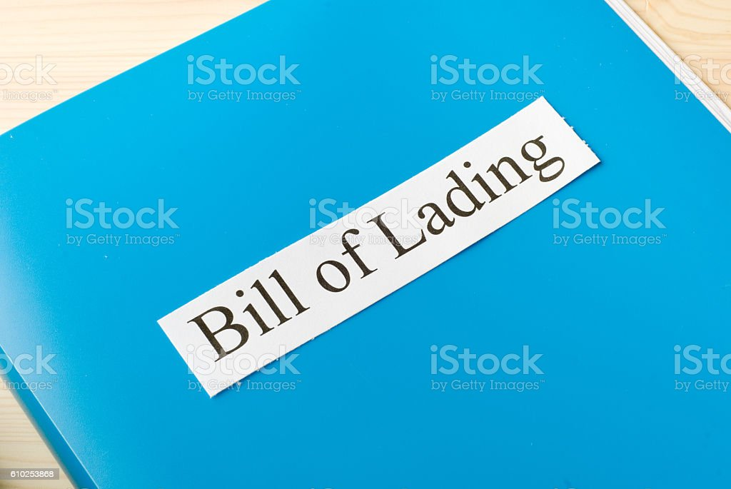 bill of lading stock photo