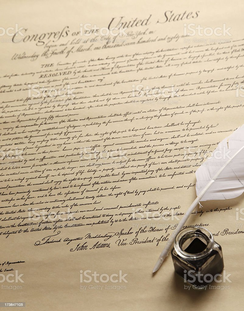 US Bill of Rights royalty-free stock photo