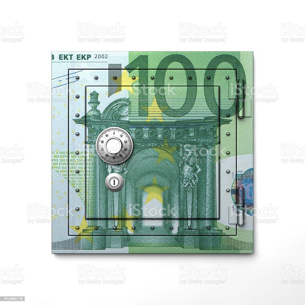 Bill of safe 'euro' stock photo