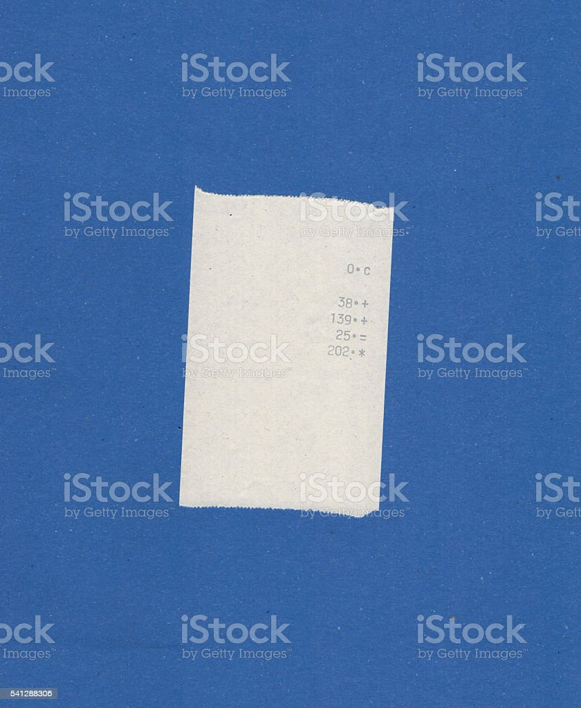 bill or receipt stock photo