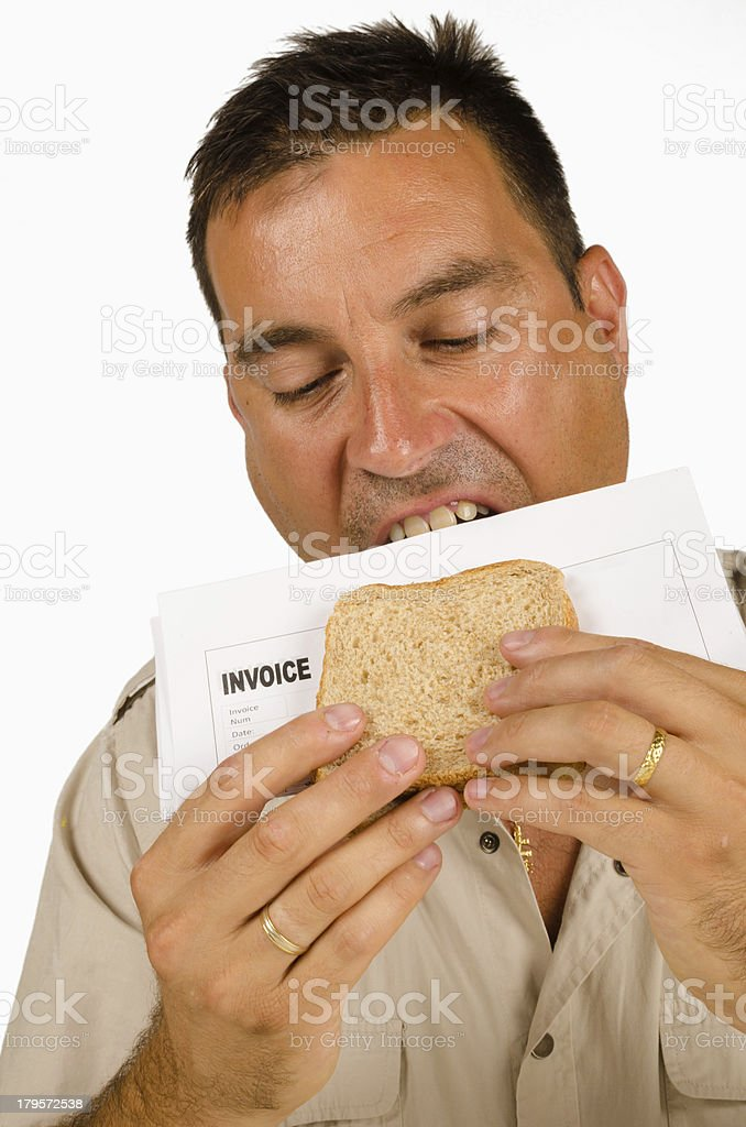 Bill sandwich royalty-free stock photo