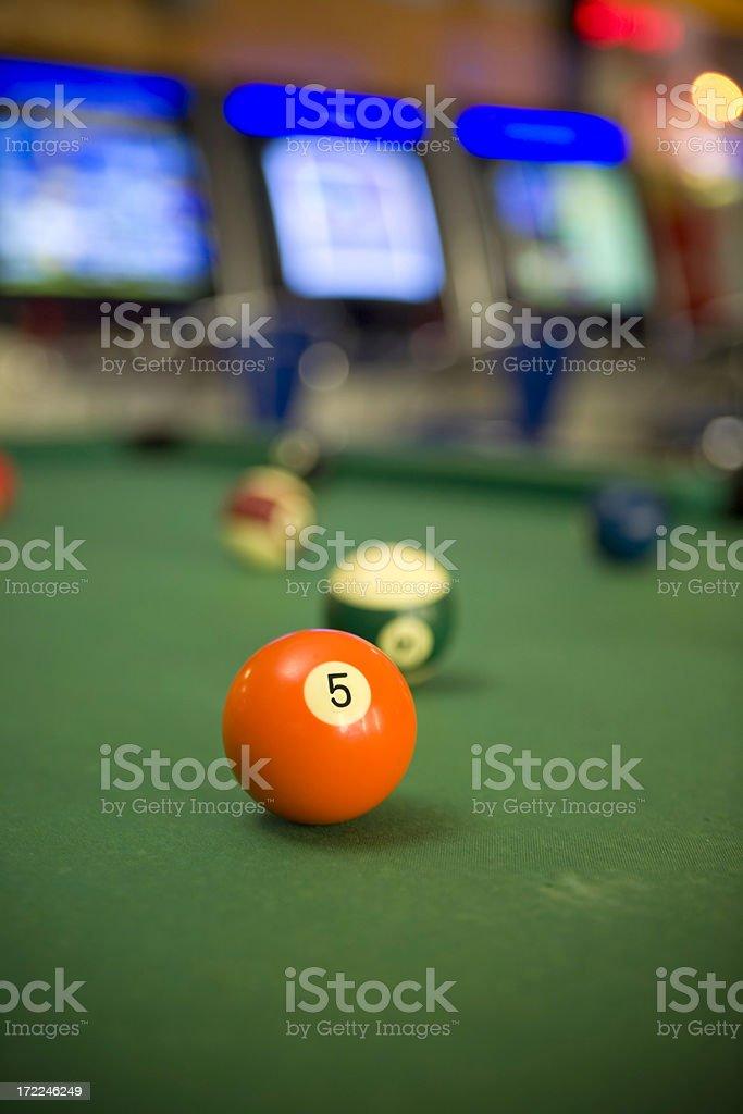 Billard ball five royalty-free stock photo