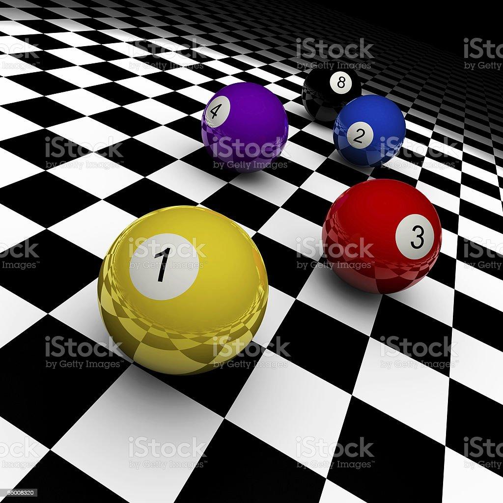 Billard Balls (XXXL) royalty-free stock photo