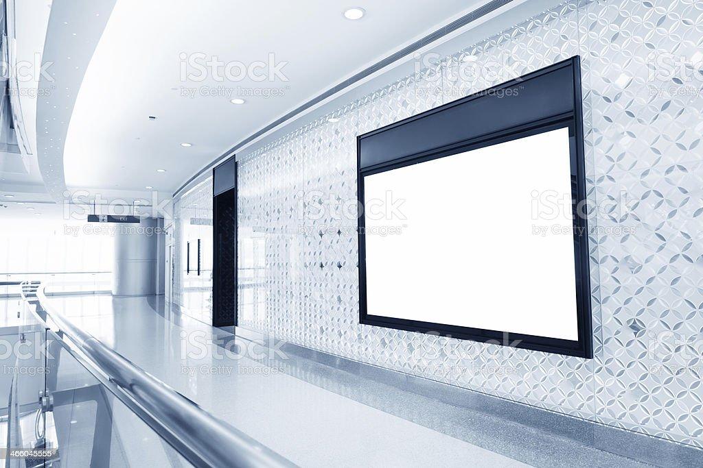 billboad in modern mall stock photo