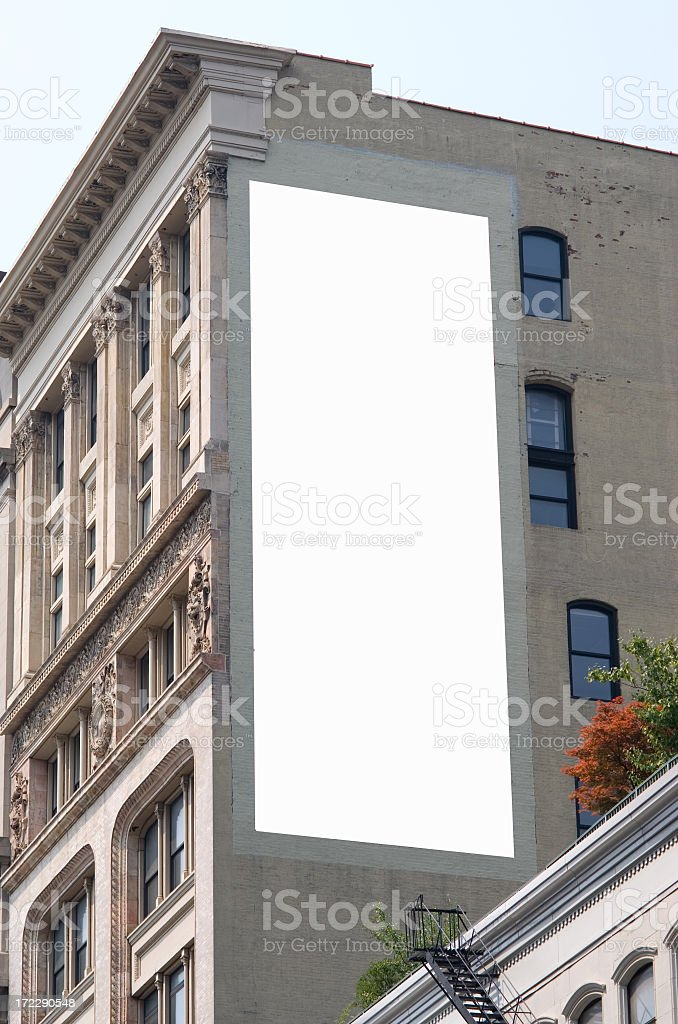 Billboard advertisement space in Manhattan New York royalty-free stock photo