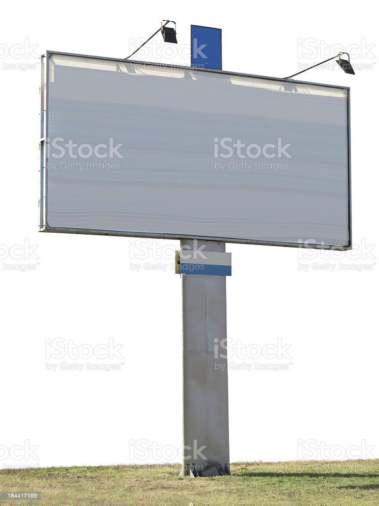 Publicidade em outdoors painel com espaço vazio e luz Projetor foto de stock royalty-free