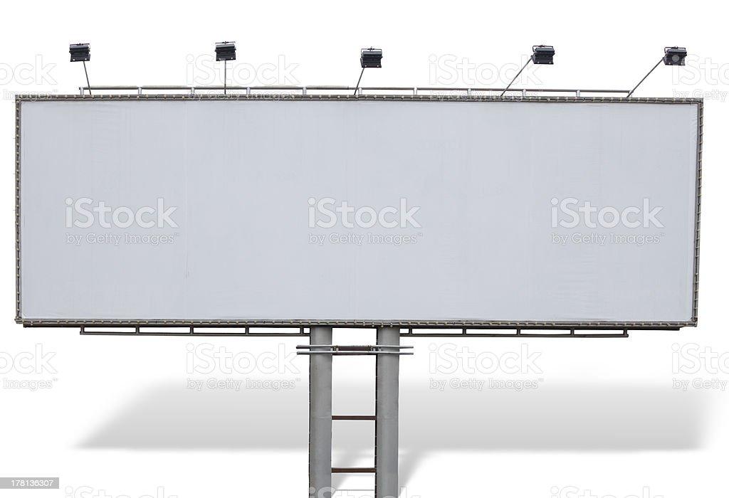 Publicidade em outdoors painel com espaço vazio e luzes isolado foto de stock royalty-free