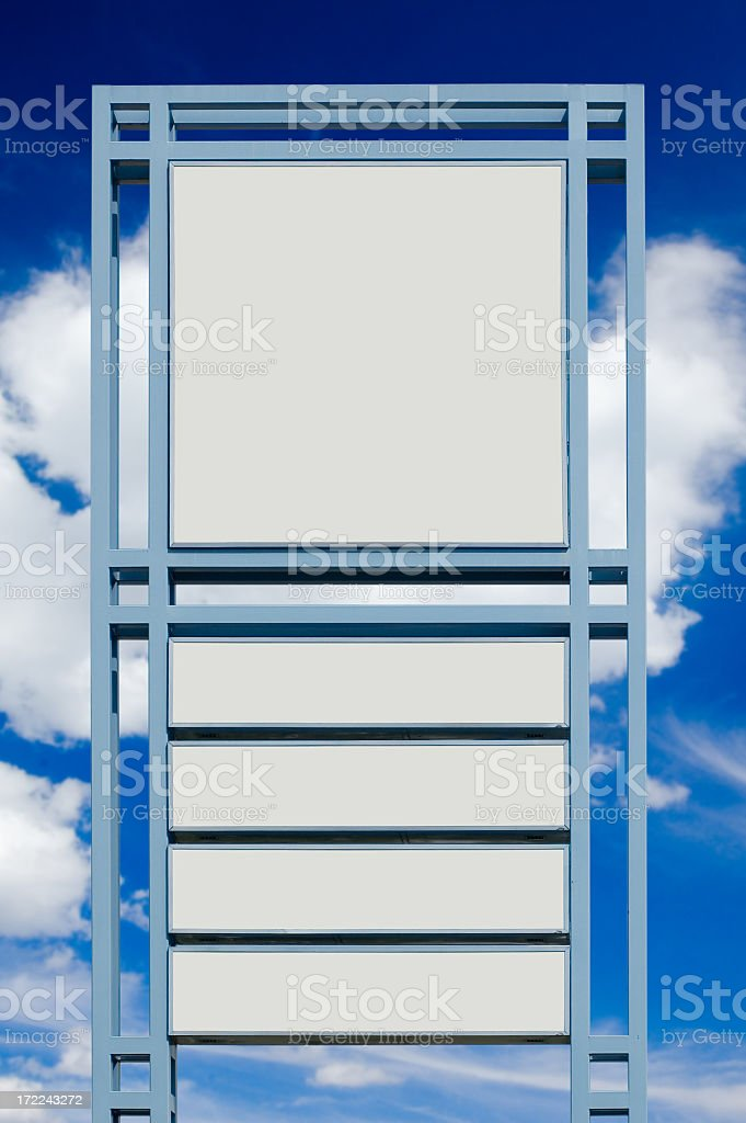 Billboard against blue sky  (w/ 6 clipping paths) royalty-free stock photo