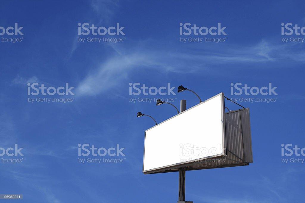 Billboard against the skies royalty-free stock photo