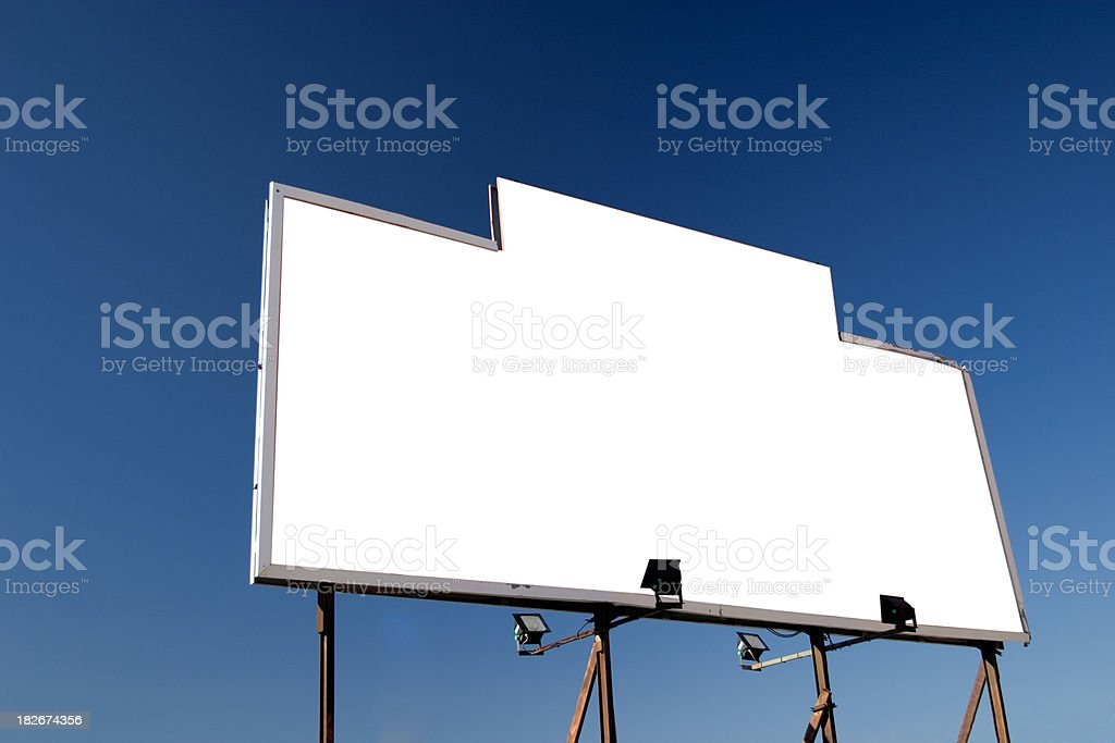 Billboard against the sky royalty-free stock photo