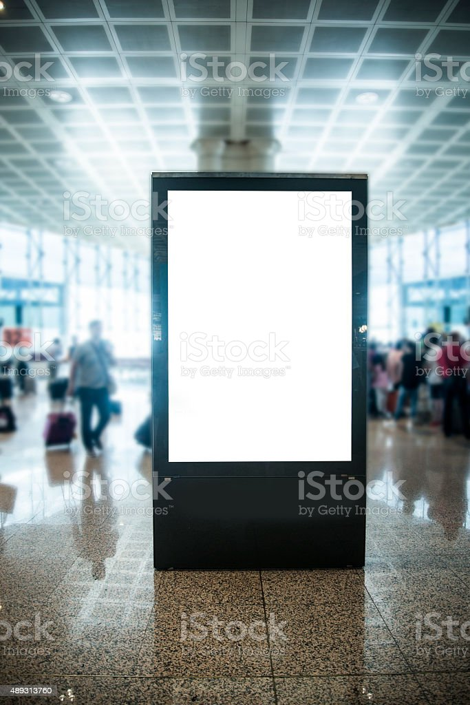 Billboard at airport stock photo