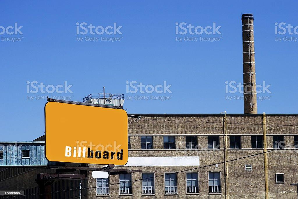 Billboard at Factory royalty-free stock photo