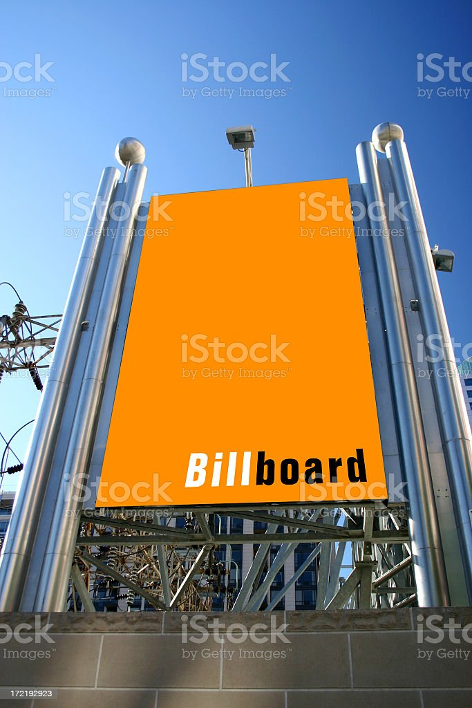 Billboard at Power Plant royalty-free stock photo