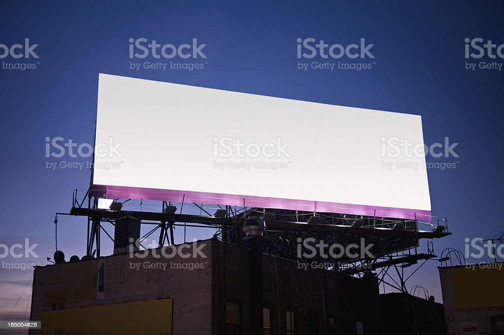 Billboard at sunset stock photo