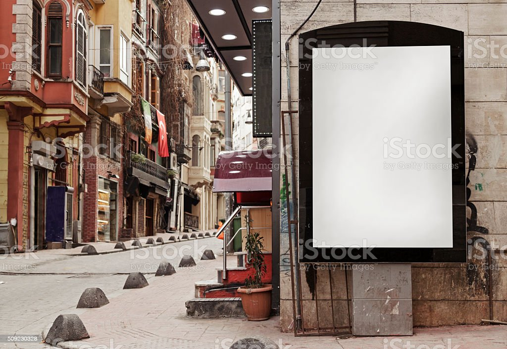billboard + clipping pad stock photo