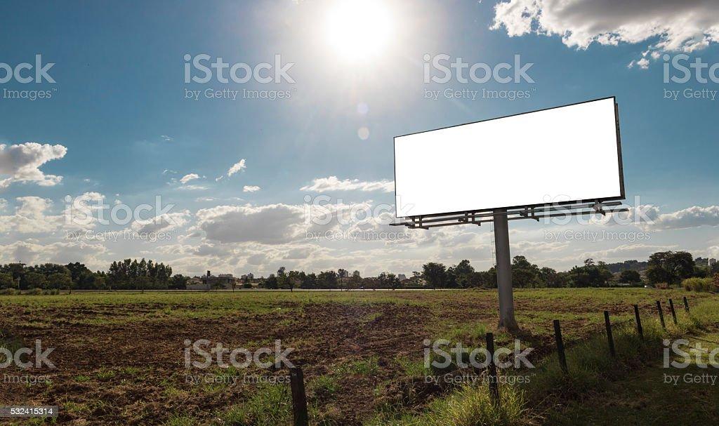 Billboard - Empty billboard in a rural location stock photo