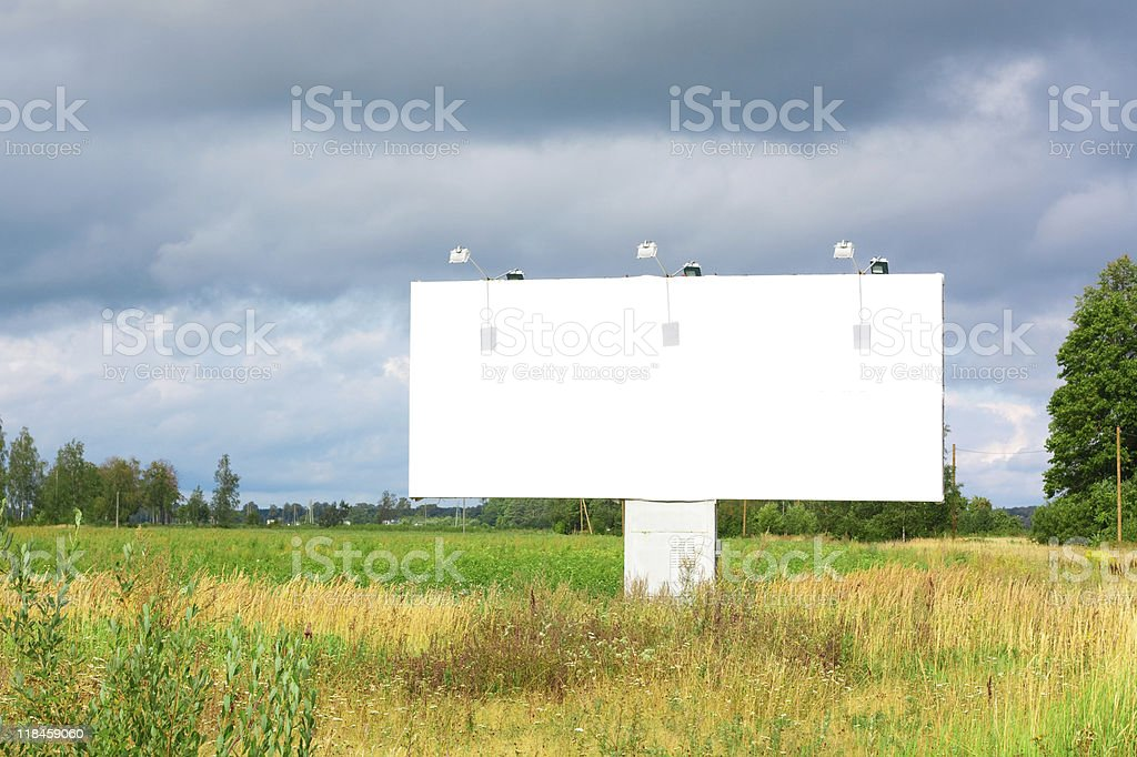 Billboard for advertisement royalty-free stock photo