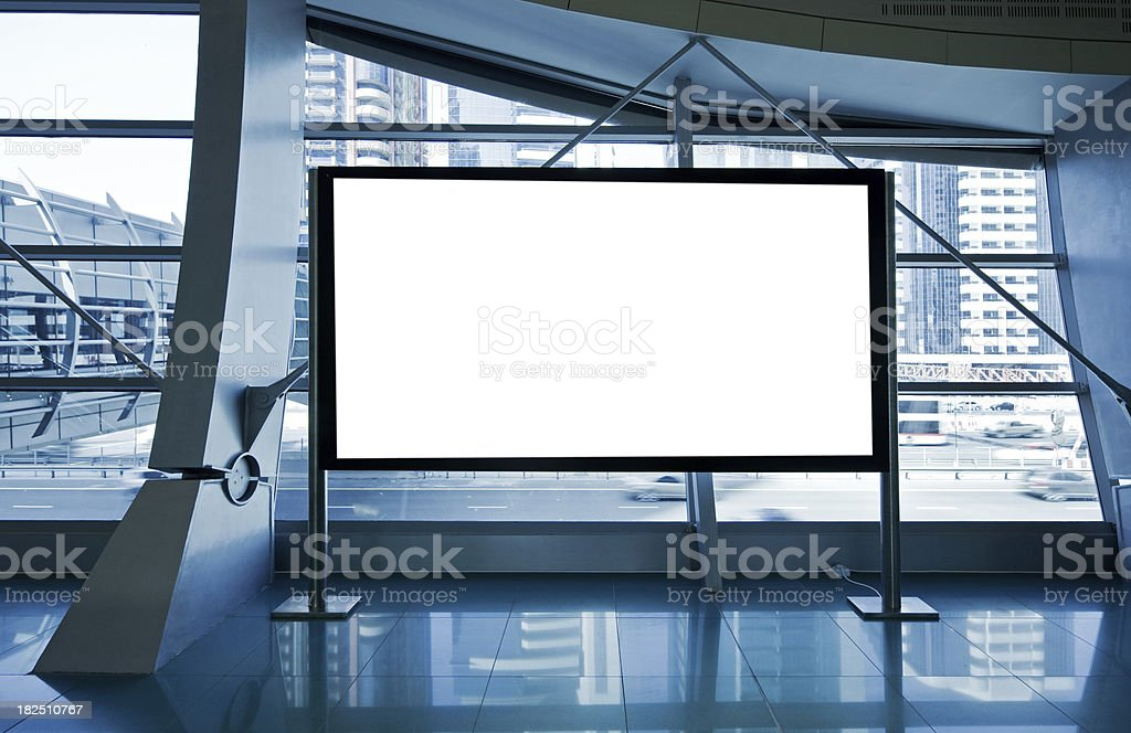 billboard for advertisement stock photo