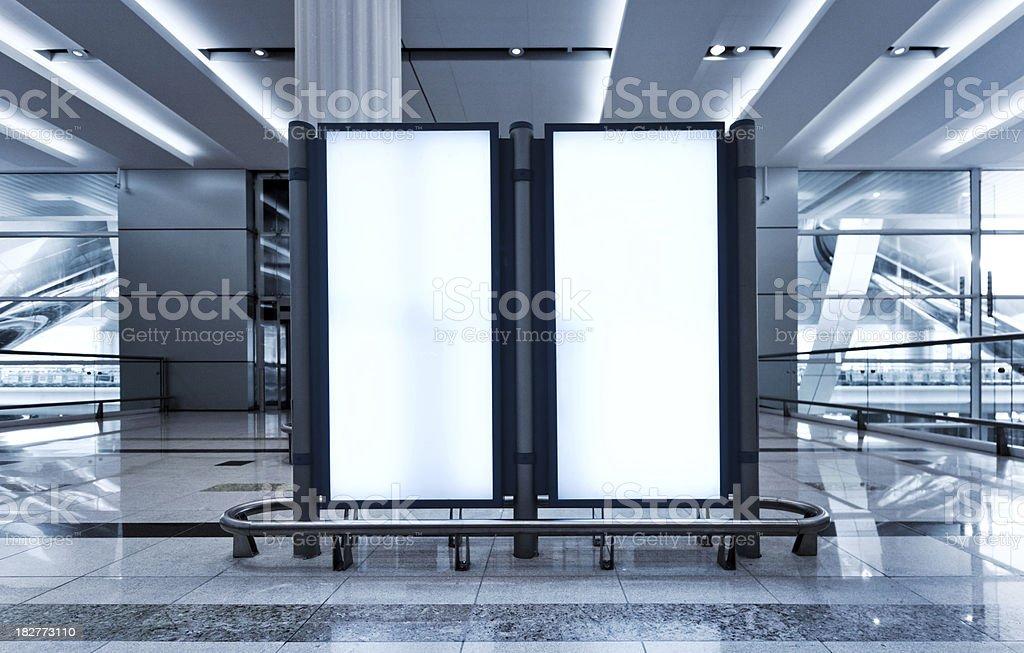 billboard for advertisement stock photo