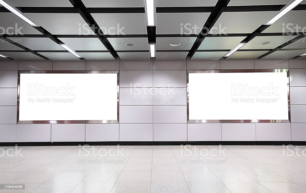 Billboard for advertisement use in a modern building royalty-free stock photo