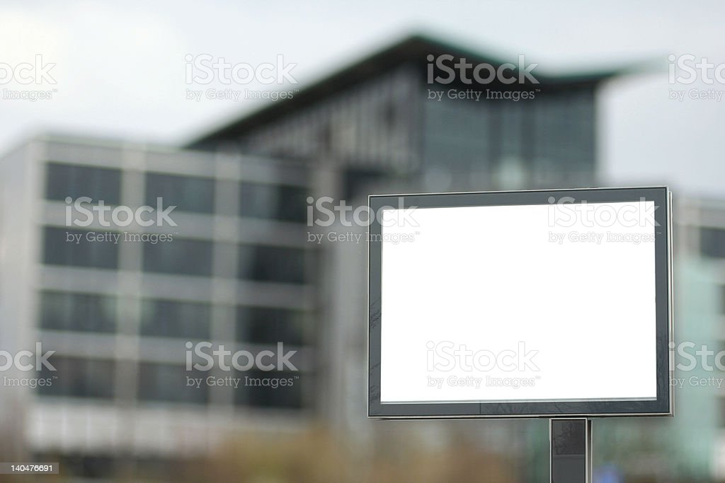 Billboard for your business advertising royalty-free stock photo