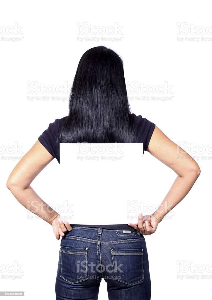 billboard girl royalty-free stock photo
