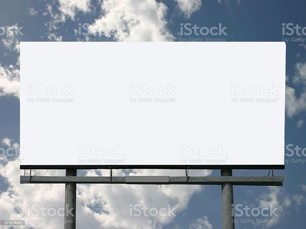 billboard 'here for you' royalty-free stock photo