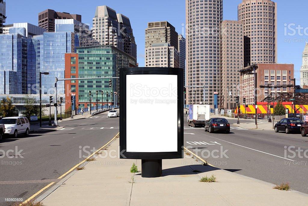 Billboard in City Street stock photo