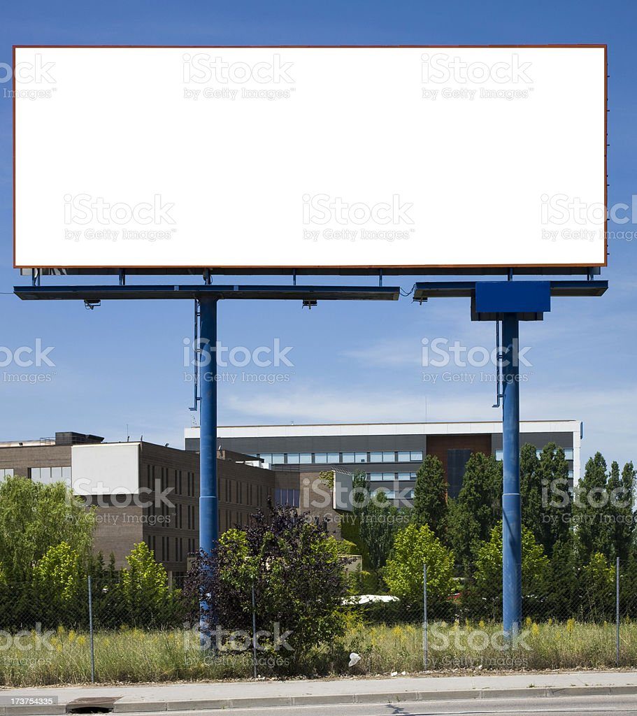 Billboard in front of officies building. Series royalty-free stock photo