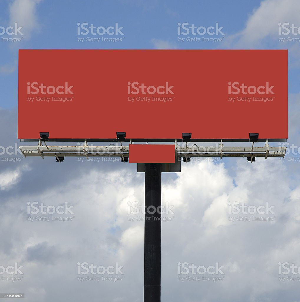Billboard in red royalty-free stock photo