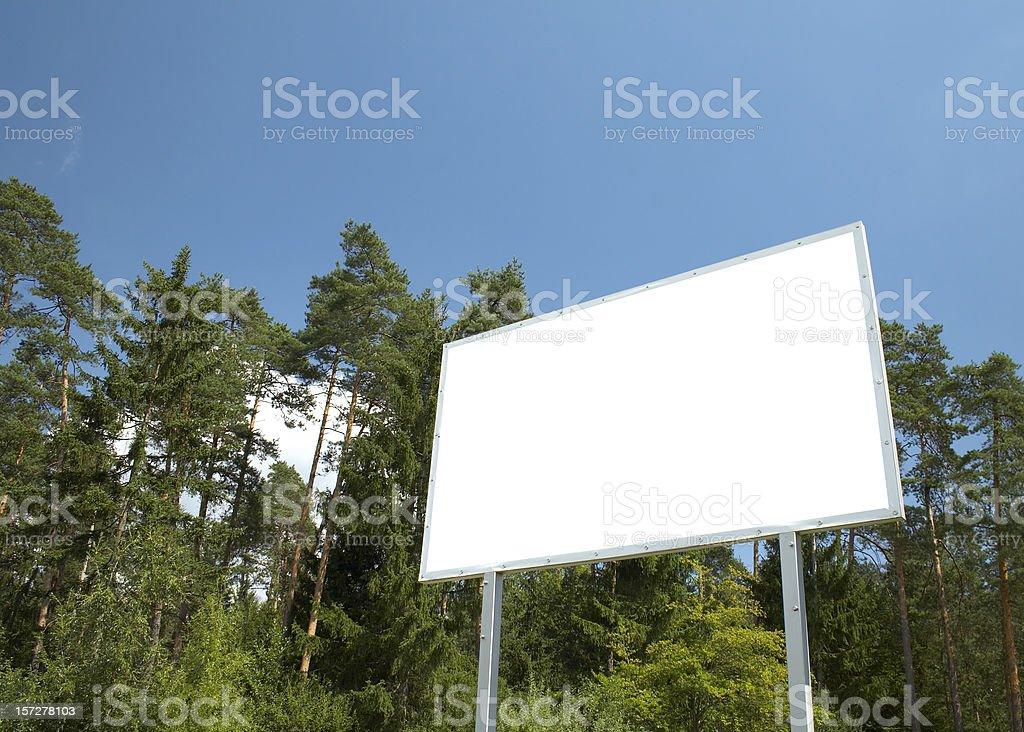 Billboard in scenic scene royalty-free stock photo
