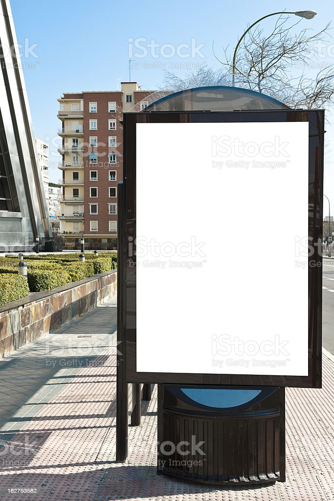 Billboard in sidewalk. royalty-free stock photo